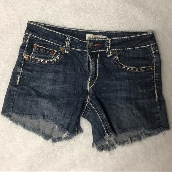 Miss Chic Jeans Pants - Cutoff Shorts